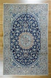 Sale 8617C - Lot 75 - Super Fine Persian Nain Silk Inlaid 305x197