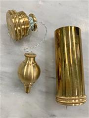 Sale 8951P - Lot 369 - Richard Kell Brass Plumb Bob in Case (case height - 5.5cm)