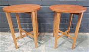 Sale 8984 - Lot 1027 - Pair of Danish Teak Lamp Tables with Drop Sides, Stamp to base (H:48 x D:38cm)