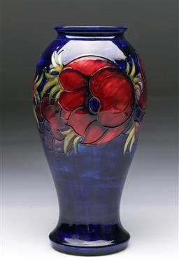 Sale 9093 - Lot 68 - Tall Moorcroft Anemone Vase (H:31.5cm)
