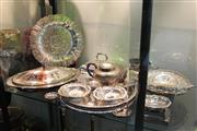 Sale 8304 - Lot 70 - Silver Plated Tray with Other Plated Wares incl Teapot
