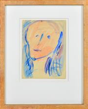 Sale 8339A - Lot 528 - Tony Tuckson (1921 - 1973) - Untitled (Portrait) 15 x 11.5cm
