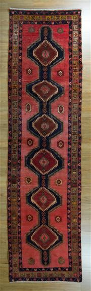 Sale 8657C - Lot 25 - Persian Shiraz Runner 385cm x 105cm
