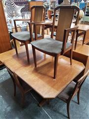 Sale 8839 - Lot 1092 - Unusual G-Plan Teak Dining Table and Six Chairs