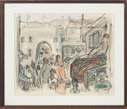Sale 8759 - Lot 2076 - Edward Smith - Rug Seller, Jerusalem 29 x 35.5cm
