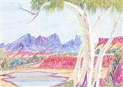Sale 8743 - Lot 575 - Hilary Wirri (1959 - ) - Mt. Sonder 49 x 35cm