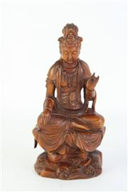 Sale 8778 - Lot 89 - A Boxwood Guanyin Figure ( H 14cm)