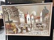 Sale 8841 - Lot 2086 - Artist Unknown (Latin America) Town Festival Scene mixed media on board, 64 x 94cm, signed
