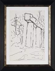 Sale 8908A - Lot 5056 - Desiderius Orban (1884 - 1986) - Untitled (A View of Ruins) 31 x 26 cm