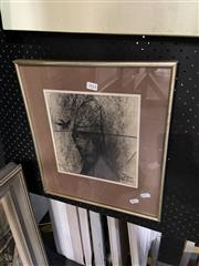 Sale 8891 - Lot 2014 - Greg Hyde, Arthur MacArthur and the Young Crow, 1978 charcoal and pastel on paper, 40.5 x 36.5 cm, signed and dated lower centre