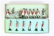 Sale 8902 - Lot 78 - Boxed D.B Figurines Sydney & Other Lead Soldiers, Timber Sailors, etc