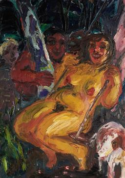 Sale 9133 - Lot 522 - Wendy Sharpe (1960 - ) Midsummer oil on board 55 x 42 cm (frame: 63 x 53 x 3 cm) signed lower left