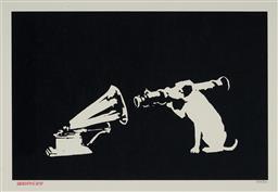 Sale 9BANKSY - Lot 1 - BANKSY (1974 - ) - HMV (2003) 29 x 44 cm