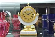 Sale 8360 - Lot 27 - French Hour Lavigne Gilt Table Clock