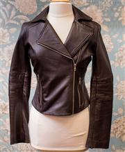 Sale 8474A - Lot 47 - A classic John Cavill soft brown leather jacket, in excellent condition, size 10