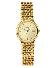 Sale 8534 - Lot 365 - A LONGINES LES GRANDES CLASSIQUES WRISTWATCH; with sunburst golden dial, centre seconds, date, ETA quartz movement, gold plated case...