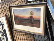 Sale 8784 - Lot 2032 - Victor Robert Watt (1886 - 1970) - Dusk, 1924 15 x 25cm