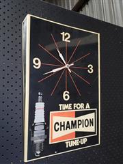 Sale 8984 - Lot 1073 - Vintage Perspex Champion Workshop Clock