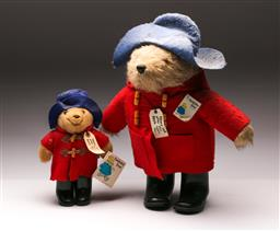 Sale 9110 - Lot 4 - Large Paddington Bear (H:49cm) together with another (H:29cm)