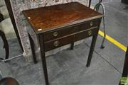 Sale 8375 - Lot 1062A - Early C20th Georgian Style Part Flatwear Service in Mahogany Canteen