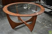Sale 8511 - Lot 1073 - G-Plan Round Atmos Coffee Table with Glass Top