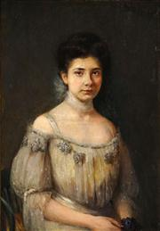 Sale 8549 - Lot 573 - Artist Unknown (Early C20th) - Portrait, 1905 90.5 x 62.5cm