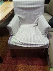 Sale 8637 - Lot 1041A - Set of Four Fabric Covered Armchairs