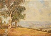 Sale 8648B - Lot 2018A - Ulik Daly - Country Landscape, c1900s 44.5 x 60cm (frame: 60.5 x 76cm)