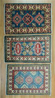 Sale 8657C - Lot 27 - 3 x Afghan Kazak Mats 90cm x 60cm