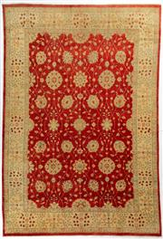 Sale 8740C - Lot 2 - An Afghan Chobi Naturally Dyed In Hand Spun Wool, Very Suitable To Australian Interiors, 438 x 302cm