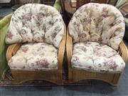Sale 8822 - Lot 1783 - Pair of Cane Armchairs