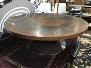 Sale 8822 - Lot 1554 - Round Copper Top Coffee Table