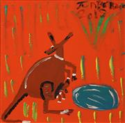 Sale 8870A - Lot 572 - Trevor (Turbo) Brown (1963 - 2017) - Mum & Her Joey, 2012 50 x 50 cm