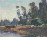 Sale 8881 - Lot 506 - Alan D. Baker (1914 - 1987) - The Picnic, Georges River 17 x 12.5 cm