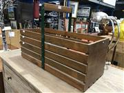 Sale 8893 - Lot 1093 - Timber and Metal Fruit Picking Basket