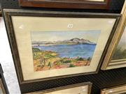 Sale 8895 - Lot 2098 - M Hermes Cass - The Gulf of Marseilles, framed watercolour, signed on verso