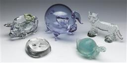 Sale 9144 - Lot 50 - Collection of glass paperweights inc Murano turtle, Mats Jonasson and Kosta Boda examples