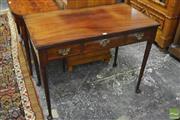 Sale 8335 - Lot 1029 - Georgian Style Mahogany Side Table, with three drawers & club legs