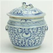 Sale 8393B - Lot 46 - Chinese Blue & White Lidded Ginger Jar