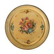 Sale 8444A - Lot 41 - An early C20th French tole metal tray with painted still life design, L 40cm