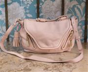 Sale 8474A - Lot 49 - A luxe See by Chloe soft baby pink leather handbag, featuring gold hardware & tassel, in excellent condition, size 36cm wide x 26cm...