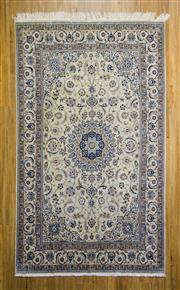 Sale 8559C - Lot 55 - Persian Nain Silk Inlay 262cm x 155cm