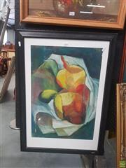 Sale 8595 - Lot 2066 - Artist Unknown - Abstract Still Life, acrylic on paper, unsigned -