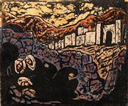 Sale 8658A - Lot 5074 - Jakob Steinhardt (1887 - 1968) - Bedouins Resting 1953 38 x 45.5cm