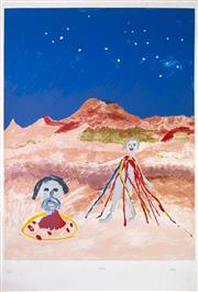 Sale 8644A - Lot 12 - Sidney Nolan - Salome image size 81 x 61cm, unframed