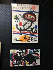 Sale 8750 - Lot 2069 - 2 Framed Miro Prints