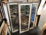 Sale 8816 - Lot 2090 - Richard Morecroft (3 works): Tree Heart, Fire Fighters, Kidney Creek