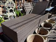 Sale 8822 - Lot 1496 - Pair of Wicker Sun Lounges