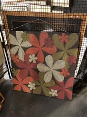 Sale 8903 - Lot 2066 - Large Flower Design Decorative Dot Canvas