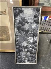 Sale 8995 - Lot 2032 - K Suweta Farmers in Sayan, Ubud, Bali, oil on board, frame: 59 x 24 x 2 cm, signed lower right